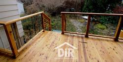 Cedar Deck with Glass Panels