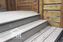 Composite Deck with Deck Lighting