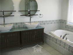 Ensuite Redesign Green & Earth Tone