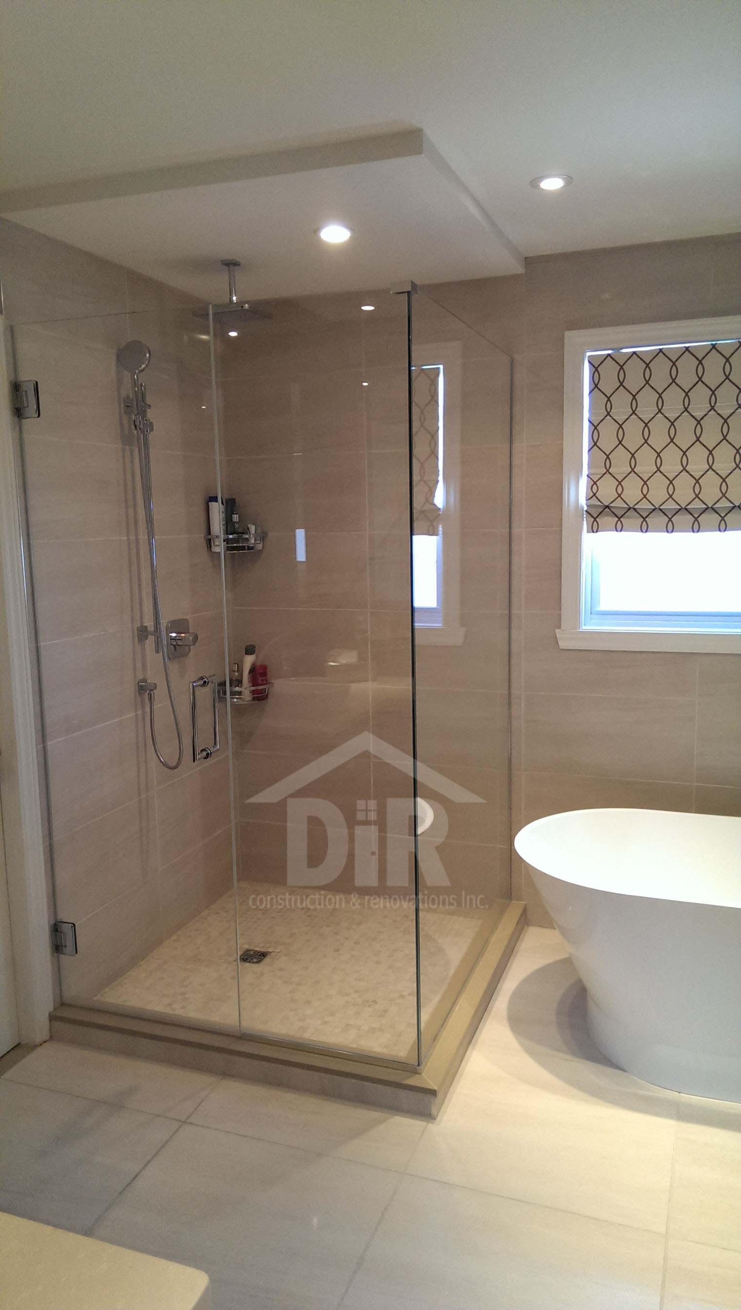 Shower with Mosaic Basin