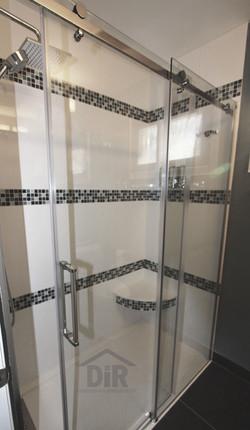 White Shower Black & White Mosaic