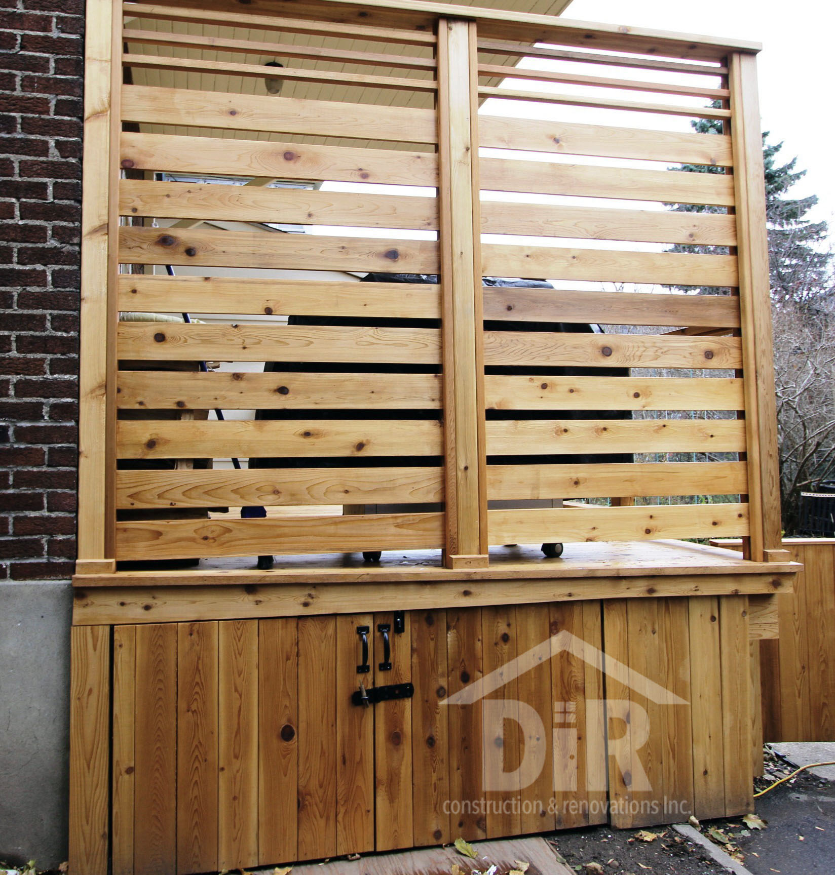 Cedar Deck Cedar Privacy Screen