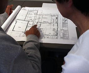 Reviewing Architectural Plans with Client