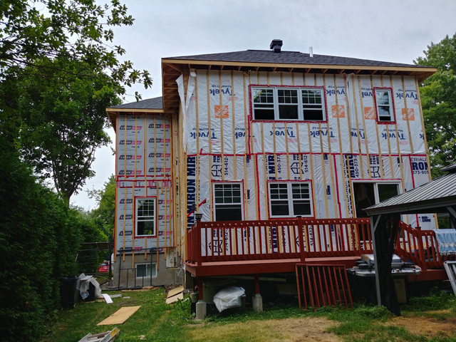 Almost complete Double Storey Addition Pointe Claire