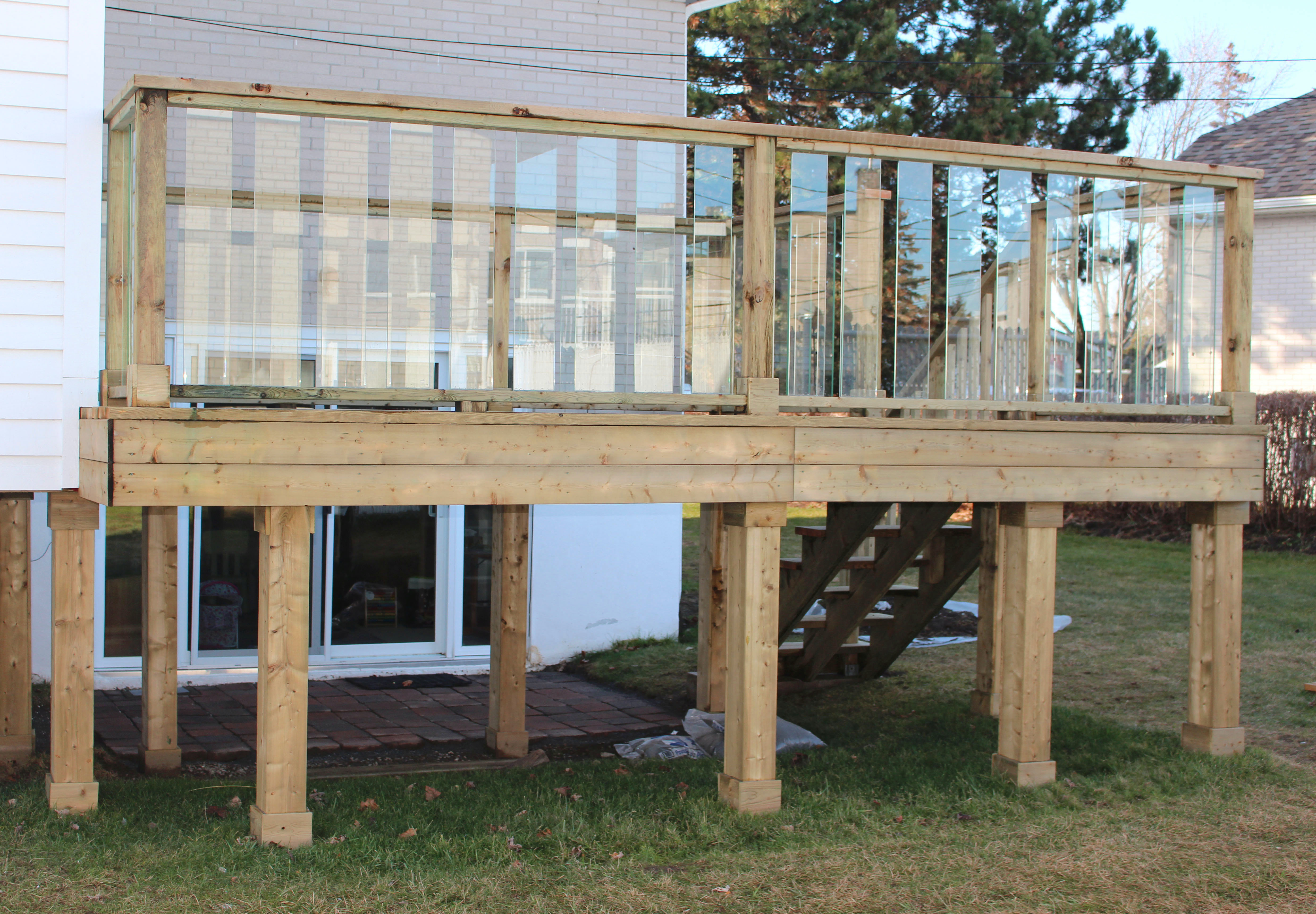 Deck with Glass Panels