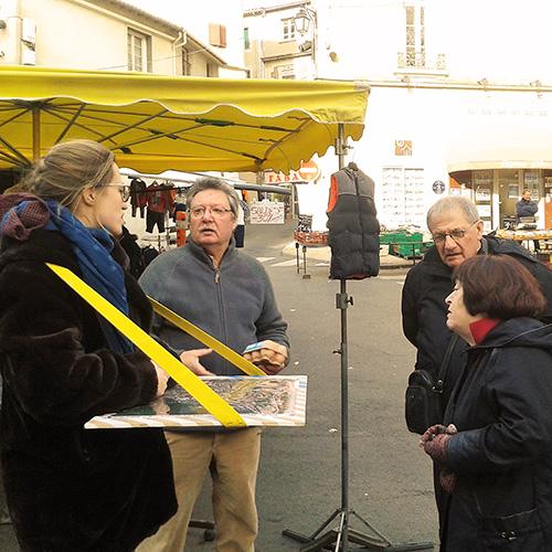 Plusieurs clermontais au marché