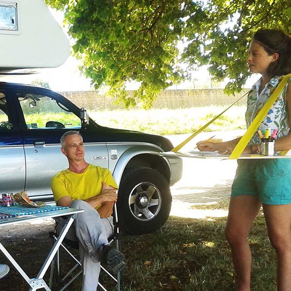 Pose des camping-caristes