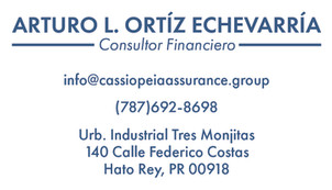 """""""CASSIOPEIA"""" Business Card (Front)"""