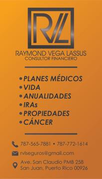 """Raymond Vega"" Business Card (Front)"