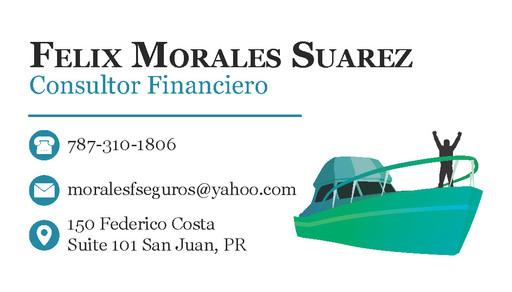 """Felix Morales"" Business Card 1 (Front)"