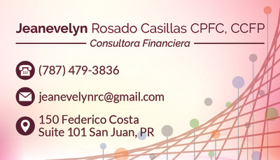 """""""Jeanevelyn Rosado"""" Business Card (Front"""