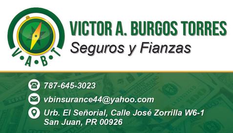 """Victor Burgos"" Business Card"
