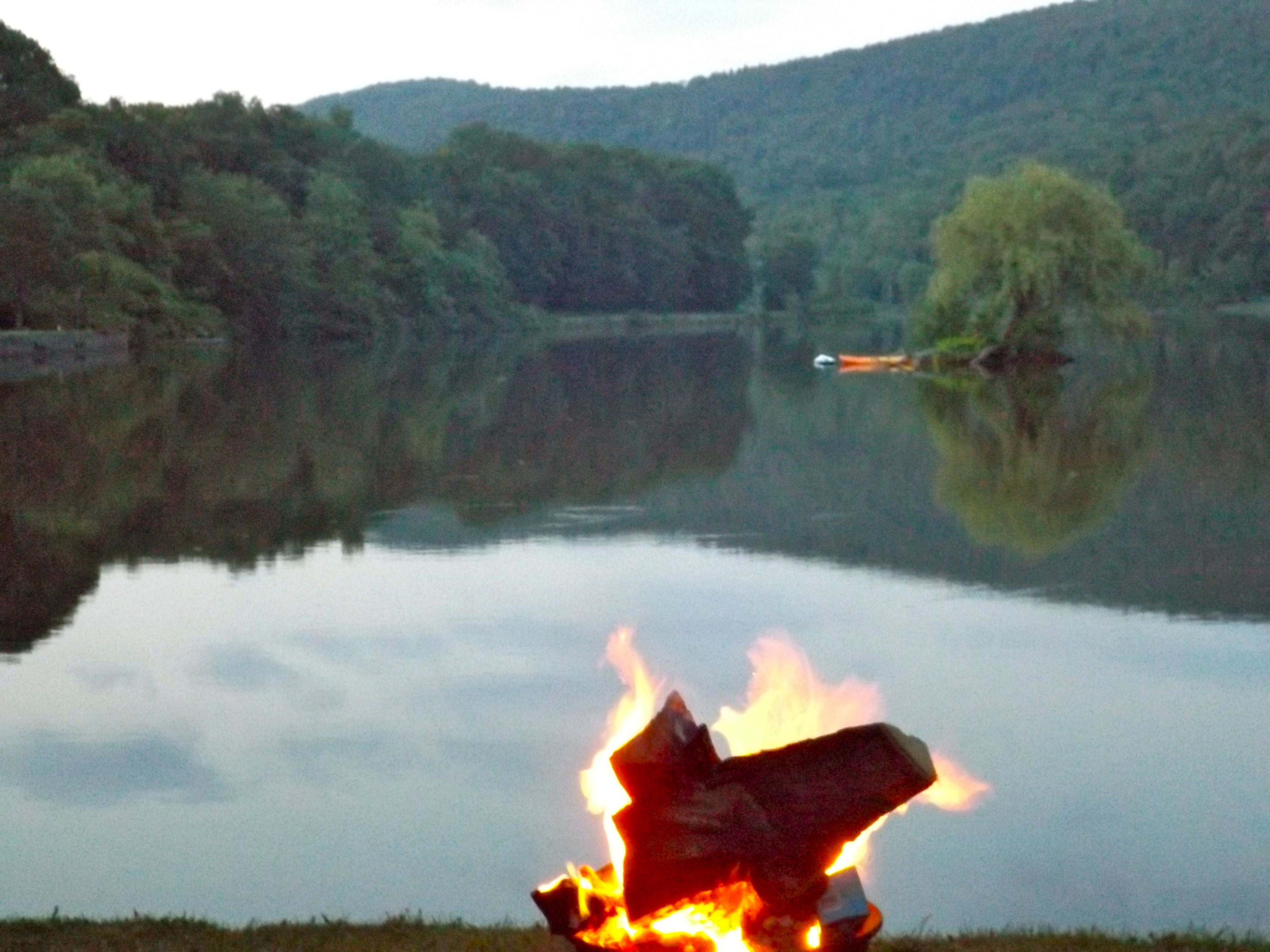 Bonfires lakeside