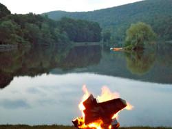 Bonfires lakeside