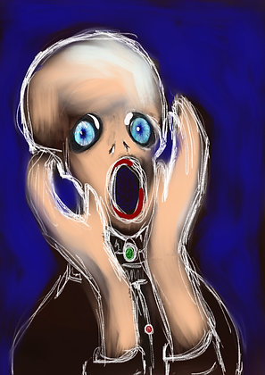 the new scream 21 x 29.7 cm