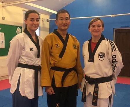 Megan with Grand Master Shin 9th Dan- November 2017