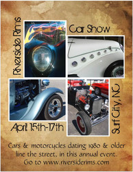 Mockup flyer for car show event