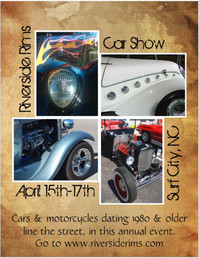 Mockup flyer for car show event