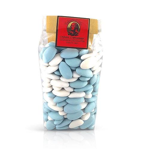 222 Dragées Bleu et Blanc Amandes Avola 500g