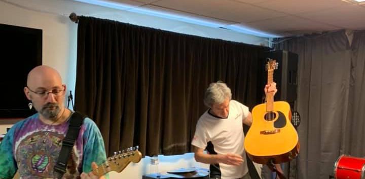 Ezra and Nick on Guitar