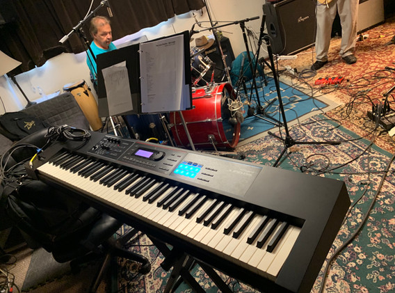 Jun DS Keyboard. Karl sits in on drums.