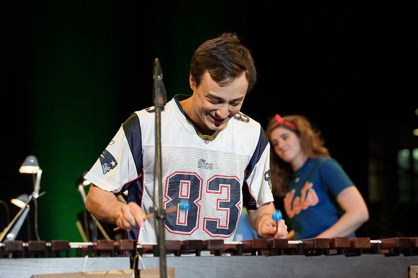 Derek performing ragtime, Ithaca, NY