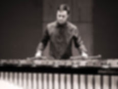 Derek playing marimba, Ithaca, NY