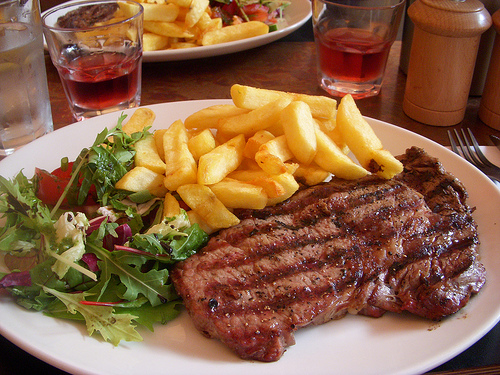 Steak  350.-