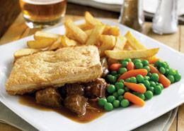 Steak & Kidney Pie  150.-