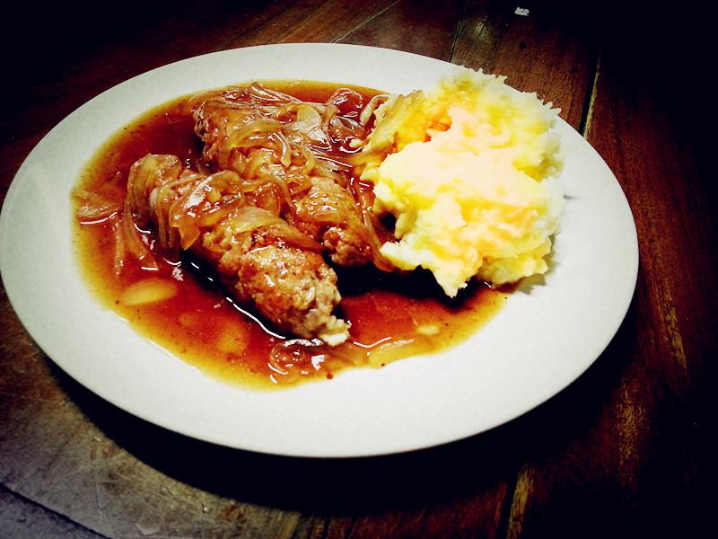 Sausage and Mash  120.-