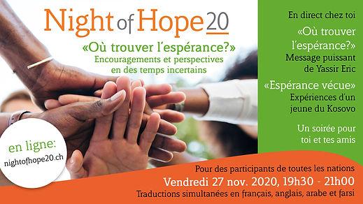 Night of Hope pour invitation (Français)