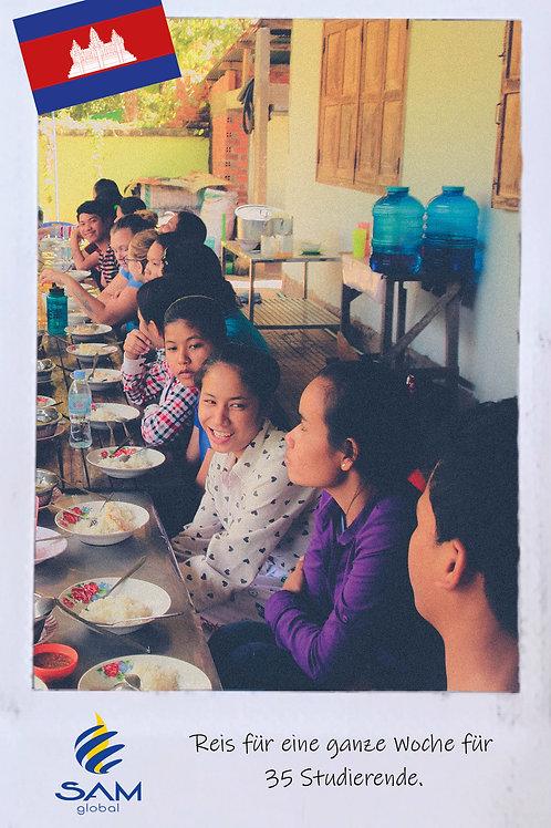 Nahrung für 35 Studierende