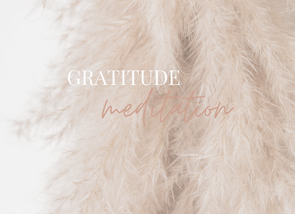 10  Minute Gratitude Meditation