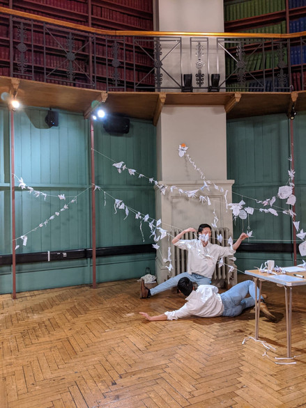 """Thousand Papers"" by Ghost and John at Octagon, Queen Mary University of London"