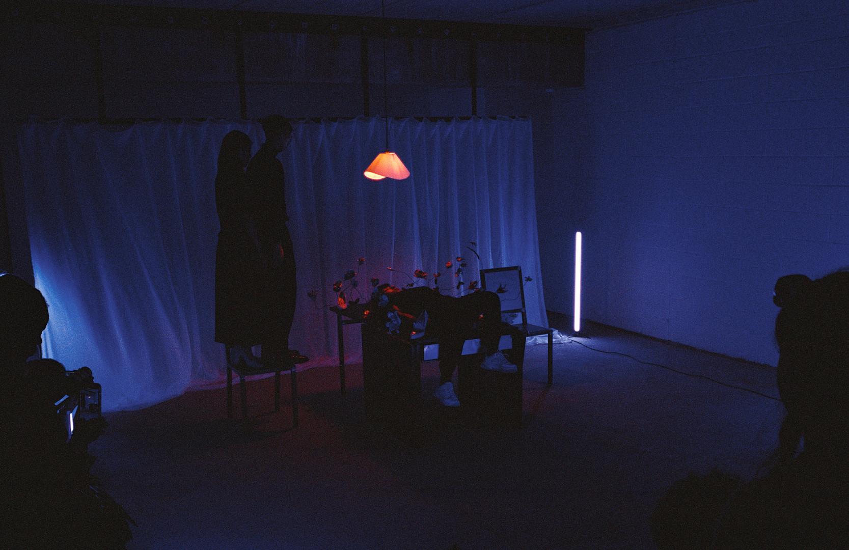 FrancisJohn Chan, Ghost Chan and Iris Chan in TROPISM Study 2: Theatre of Remembrance by Nhu Xuan Hua