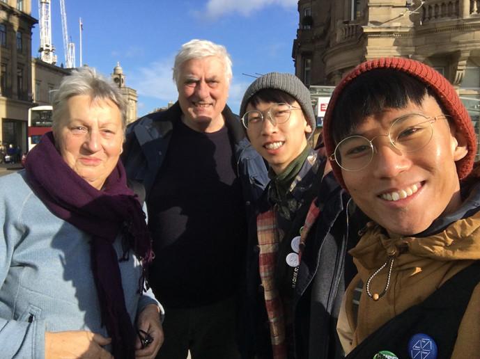 With Steve and Halina at Edinburgh