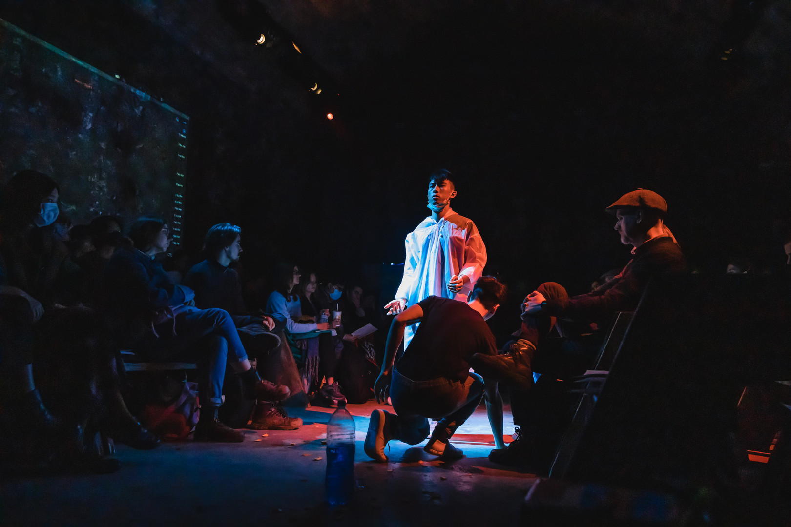 FrancisJohn Chan and Ghost Chan in Freedom Hi by Papergang Theatre at Vault Festival
