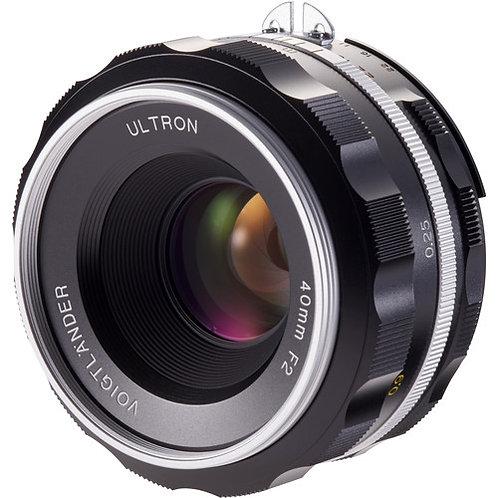 ULTRON 40mm F2.0 SL IIs AIS F-mount (Silver rim)