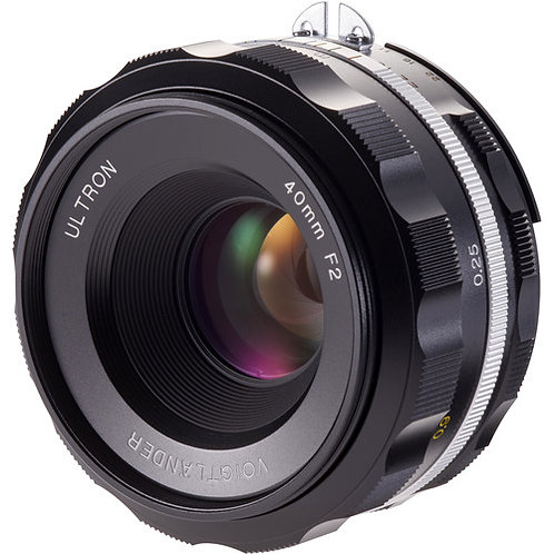 ULTRON 40mm F2.0 SL IIs AIS F-mount (Black rim)