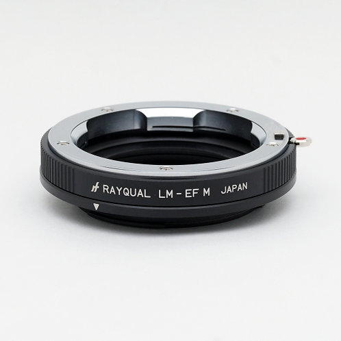 RAYQUAL Leica M-mount lens to Canon EF-M-mount body adapter