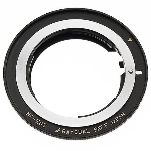 RAYQUAL Nikon F-mount lens to Canon EF-S-mount body adapter