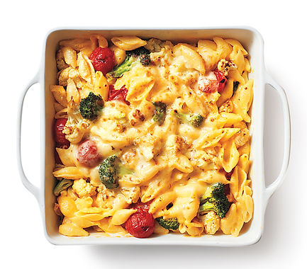 Roasted Broccoli and Tomato Mac and Cheese