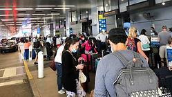 Passengers at the Miami International Ai