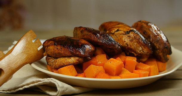 Siracha-Glazed Chicken with Paprika Butternut Squash