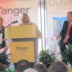 Councilmember Clark welcomes Tanger Outl