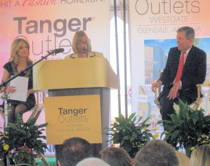 Councilmember Clark welcomes Tanger Outl