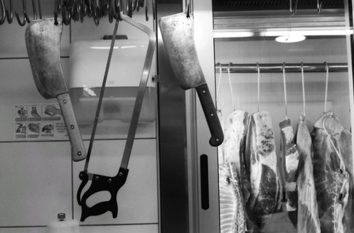 Butcher shop, Split, Croatia
