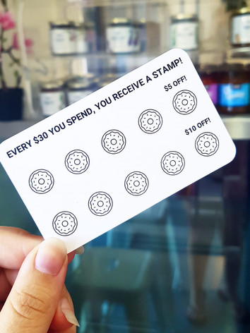 our new loyalty cards