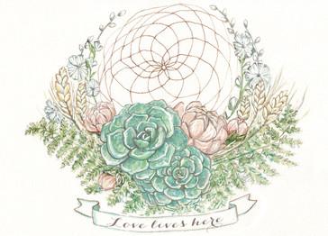 Wedding Invitaton illustration, 2015.
