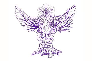 Mystic Medicine Woman, logo, 2017.